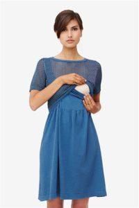Blå ammekjole med strik top