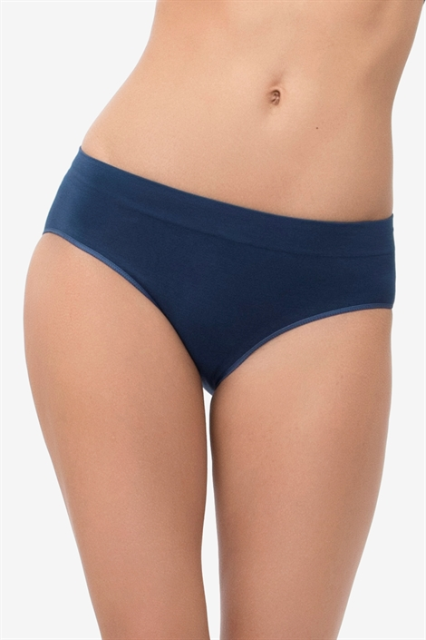 Blue maternity panties in soft bamboo