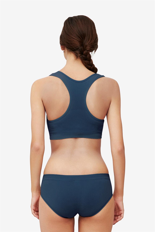 Blue nursing sports bra for the night