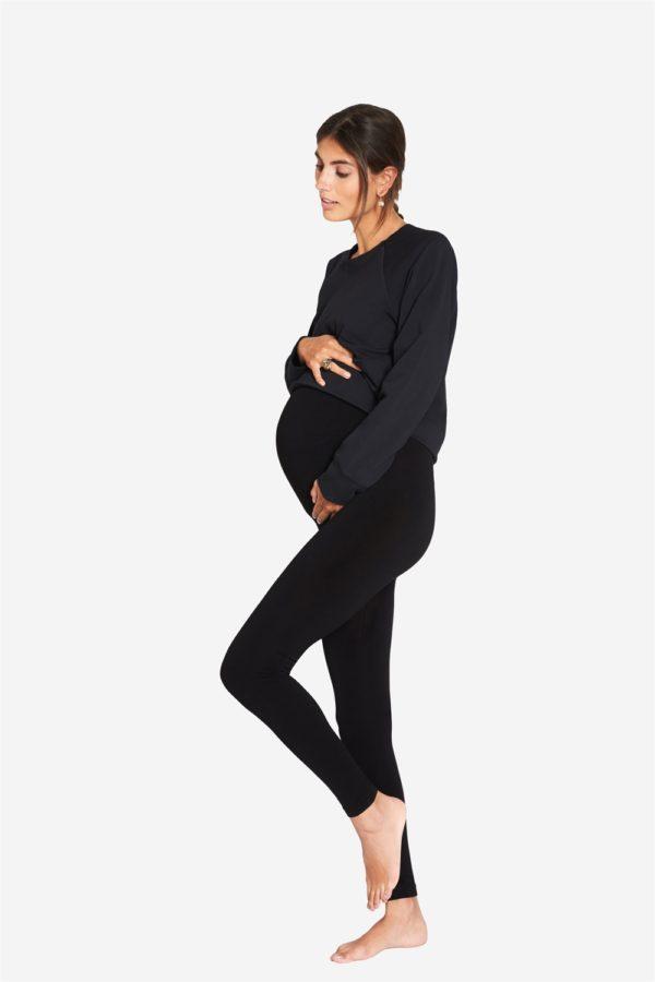 Sorte leggings til gravide
