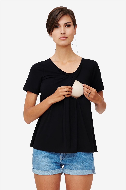 Black nursing top in large fit