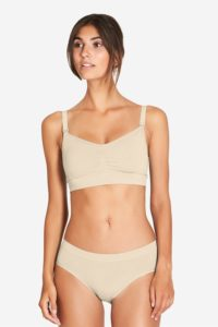Nude Nursing Bra with click opening in bamboo fibers