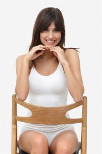 White nursing top with build-in bra made of bamboo fibers