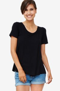 Black nursing top in large fit