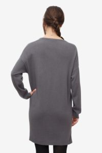 Grey nursing dress made of wool/viscose - comfortable width